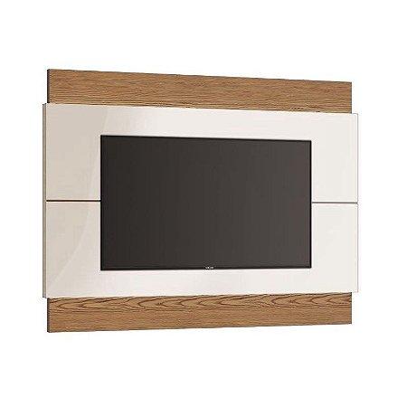 """PAINEL PARA TV'S ATÉ 60"""" - CLASSIC (1,80M) COM LED (73675) ./OFF WHITE/FREIJO"""