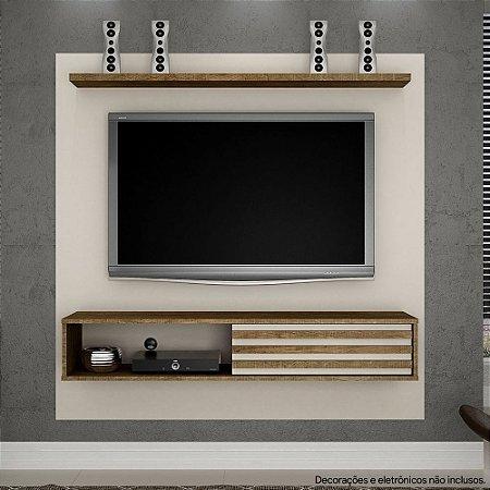 """PAINEL ARIZONA (SUPORTA TV'S DE ATÉ 50"""") - LARG.: 135CM /COM SUPORTE PARA TVS ./OFF WHITE/YPE"""