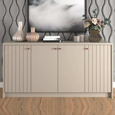 BUFFET  LIA 100% MDF 4P 152X76X38 ./OFF-WHITE