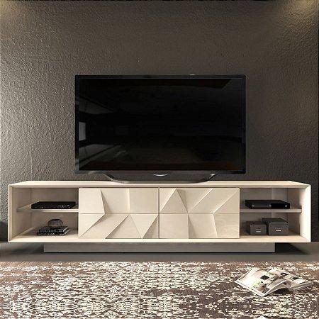 BANCADA  DOMANI  2,40MT PORTA 3D ./OFF WHITE/ OFF WHITE