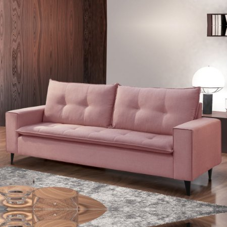 SOFA 3L SF 743 TC CANCUN214 ./ROSA  ( DIMENSÃO 2,308MT )