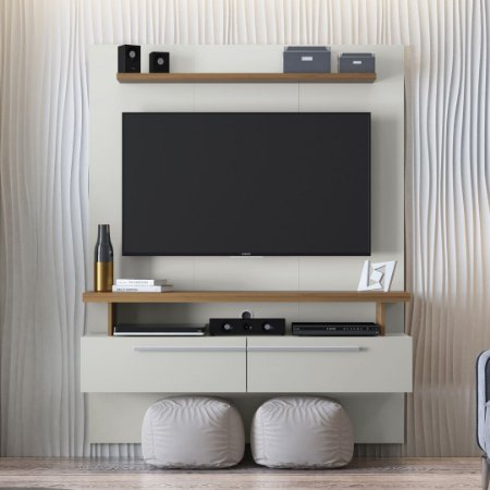PAINEL HOME NEW CAJU OFF WHITE/NOGUEIRA