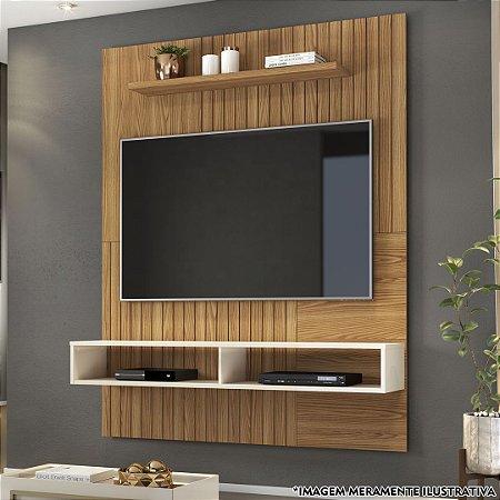 PAINEL BRAGA P/ TVs até 55'' /CARVALHO NOBRE /OFF WHITE