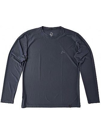 Camiseta Conquista Dry Cool ML - Masculina - Cinza Chumbo - XG