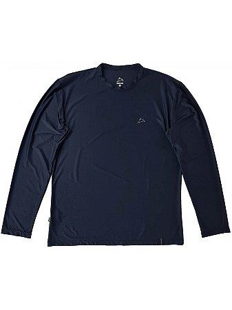 Camiseta Conquista Dry Cool ML - Masculina - Azul Marinho - XG