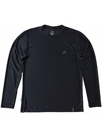 Camiseta Conquista Dry Cool ML - Masculina - Preta - GG