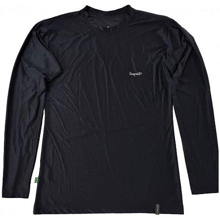 Camiseta Conquista Dry Cool ML - Feminina - Preta - G