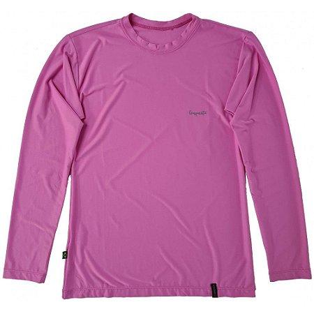 Camiseta Conquista Dry Cool ML - Feminina - Rosa - PP