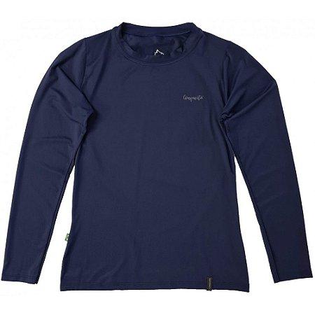 Camiseta Conquista Dry Cool ML - Feminina - Azul Marinho - GG