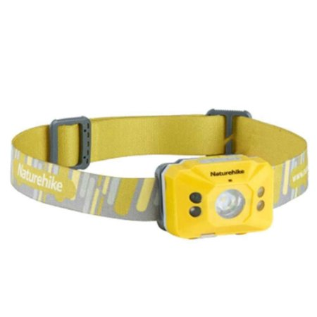 Lanterna de Cabeça Recarregável Naturehike Induction IPX4 - 140Lumens - Amarelo