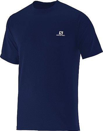 Camiseta Salomon Comet SS Masculino - Azul Marinho - M