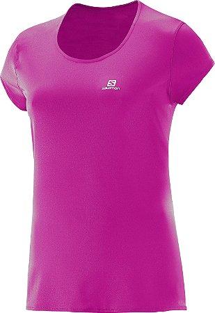 Camiseta Salomon Sonic SS UV Feminino - Super Pink