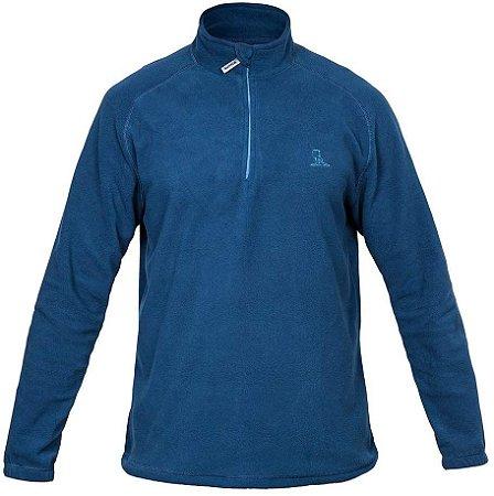 Blusa Curtlo 1/2 Zip Thermo Fleece Masculino - Azul