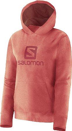 Blusa Salomon Polar Hoodie com Capuz Feminino - Coral