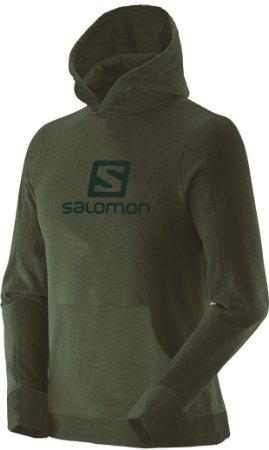 Blusa Salomon Polar Hoodie com Capuz Masculino - Verde