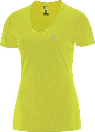 Camiseta Salomon Comet SS Feminino - Amarelo Limão