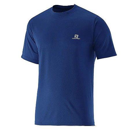 Camiseta Salomon Comet SS Masculino - Azul