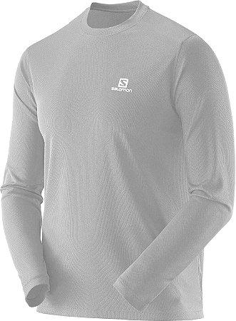 Camiseta Salomon Sonic LS Masculino - Cinza