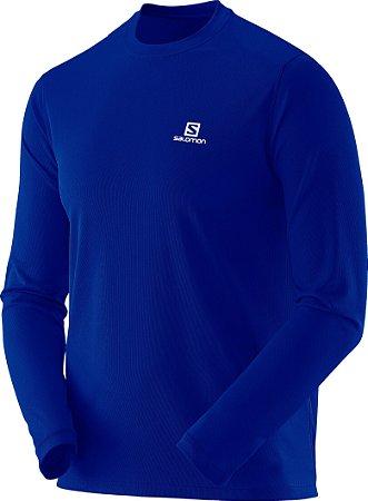 Camiseta Salomon Sonic LS Masculino - Azul
