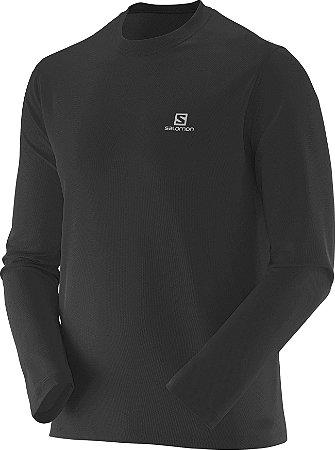 Camiseta Salomon Sonic LS UV Masculino - Preta