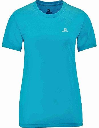 Camiseta Salomon Training I Feminino - Azul Claro