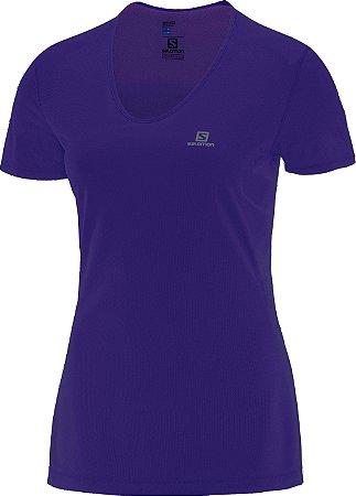 Camiseta Salomon Training I Feminino - Roxo