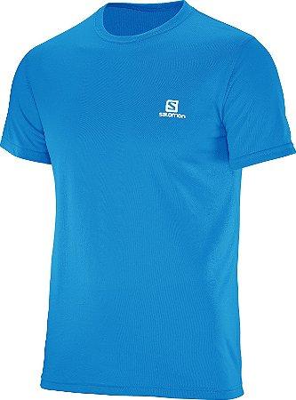 Camiseta Salomon Training Masculino - Azul Claro
