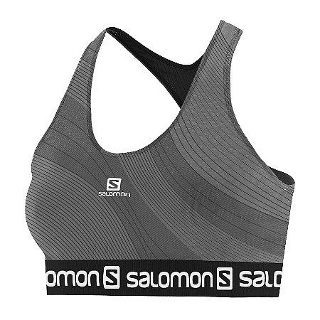 Top Salomon Graphic - Cinza