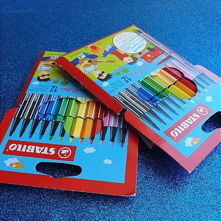 Stabilo mini pen68 - kit com 12 canetas