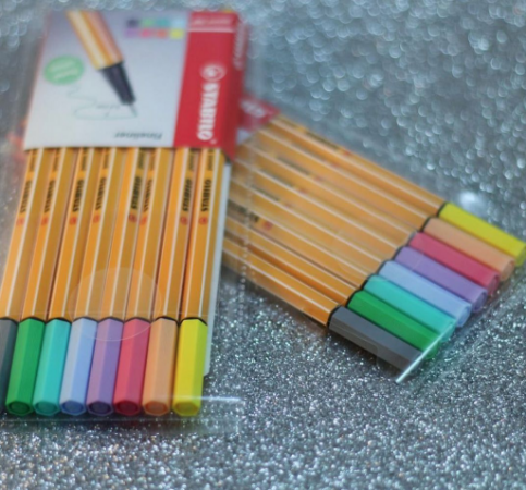 Stabilo point88 em tom pastel - kit com 8 cores