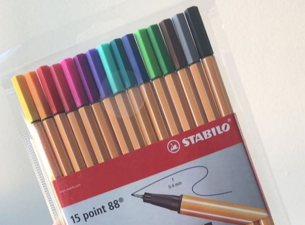 Stabilo point88 - kit com 15 cores