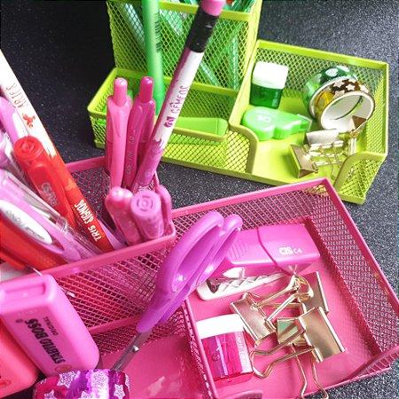 Porta lápis aramado 3 em 1