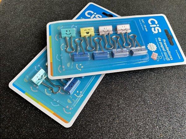 Kit Prendedor de Papel Emoji Cis - 19 mm - 8 und