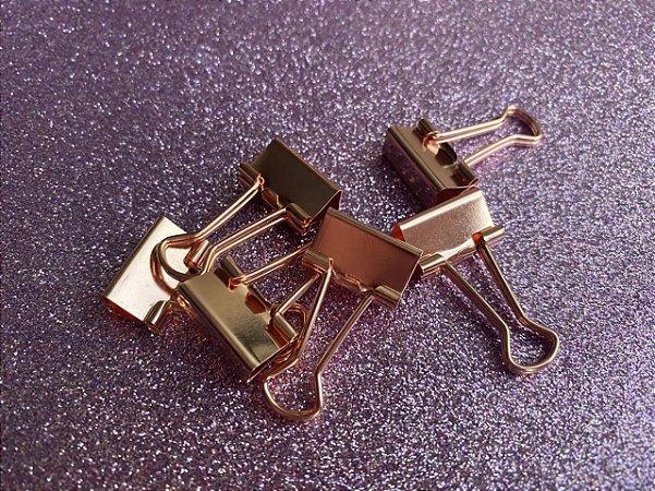 Binder ouro rosê - pacote com 6 unidades