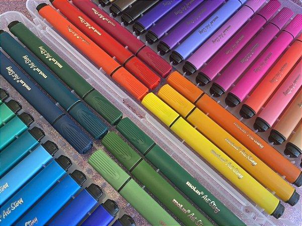 Hidrocor Artístico - Maleta com 48 cores Molin