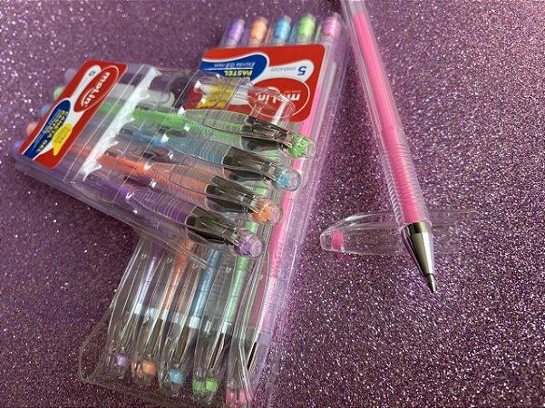 Caneta Molin Gel Grip Kit com 5 cores - Molin