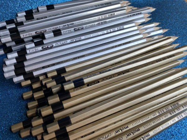 Lápis HB Office Metalizado