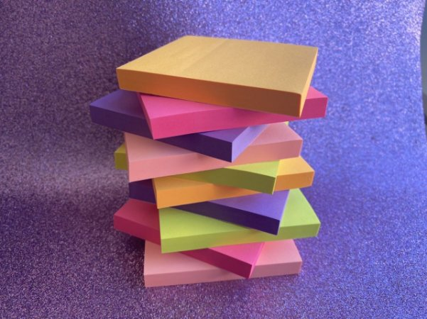 Bloco de Notas Adesivas Stick On Neon 76x76mm - 100 folhas