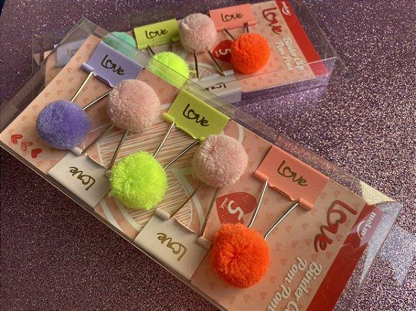 Binder Clip Molin Pompom kit com 5