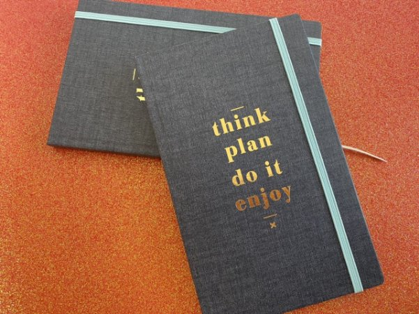 Caderneta sem pauta Cambridge Denim - G