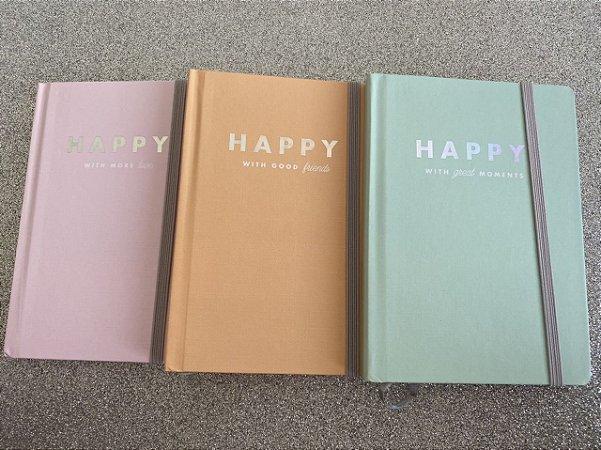 Caderneta sem pauta Happy - 80 folhas - Tilibra