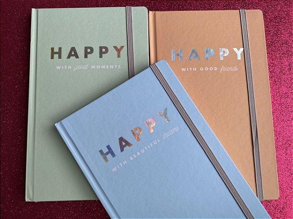 Caderneta pontilhada - 80 folhas - Happy
