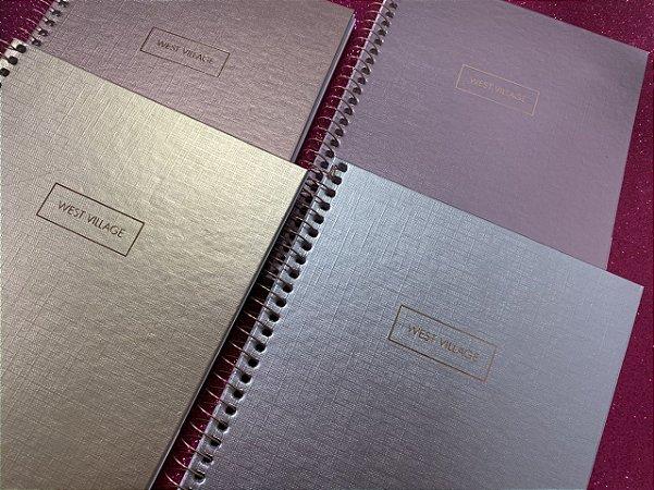 Caderno colegial metalizado - 1 matéria - West Village Tilibra