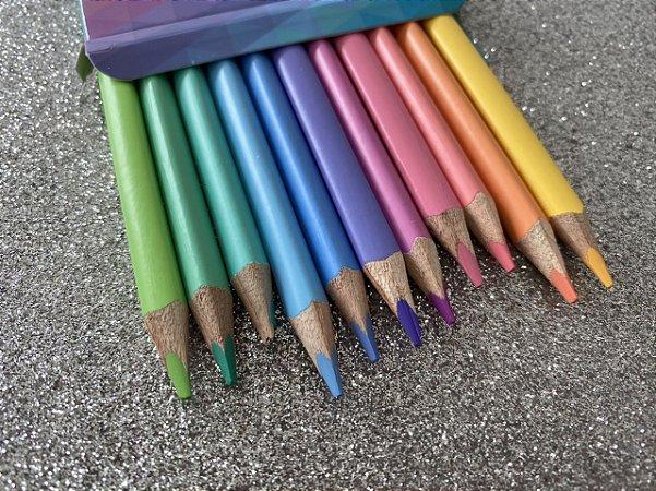Lápis de cor Tris megasoft - kit com 12 cores pastéis