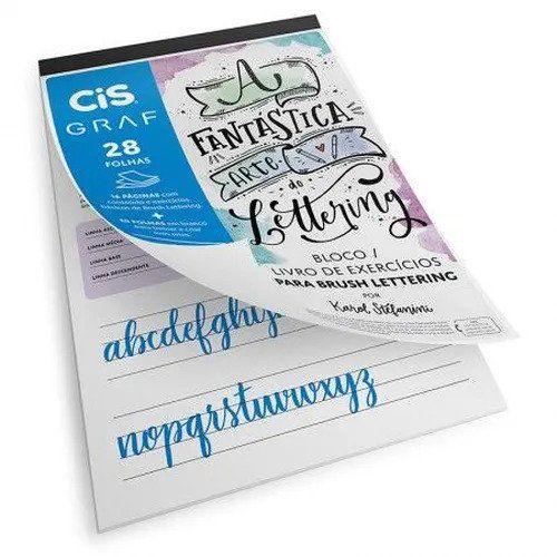 Bloco de exercícios de Lettering Cis