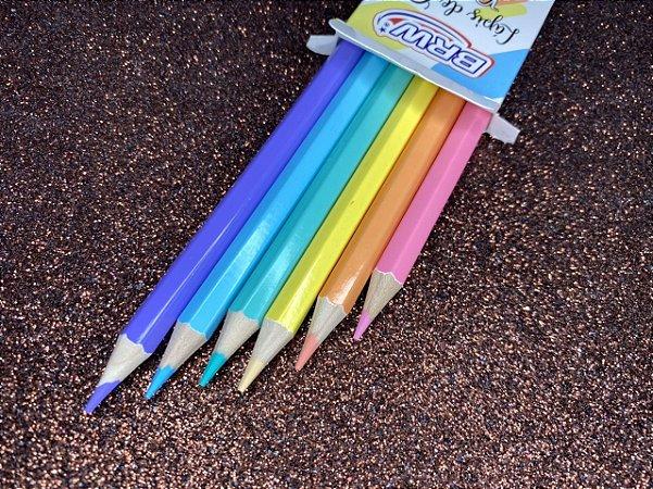 Lápis de cor BRW Pastel - Estojo com 6 cores