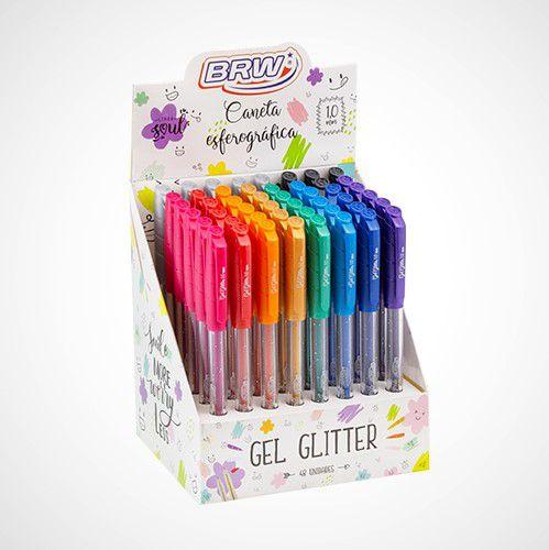 Caneta Glitter Gel BRW 1.0 mm