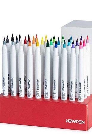 Brush Pen Newpen Ginza - Caixa com as 30 cores!