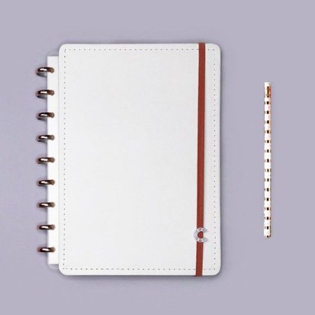 Caderno Inteligente All White - Médio