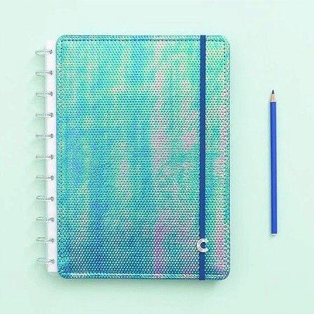 Caderno Inteligente Azul Holográfico - Médio